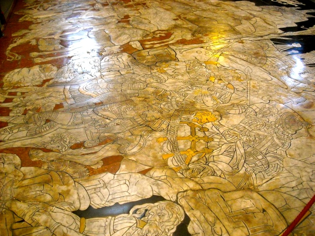 Marble Pavement in Il Duomo in Siena
